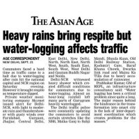 Asian Age - Water Logging - Prabhakar Sir