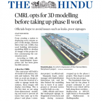 BIM for Chennai Metro - The Hindu 19012021
