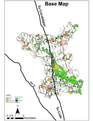 Base Map of Industrial Corridor Dhuriyapar, U.P.