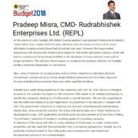 pre budget expectation CMD-REPL